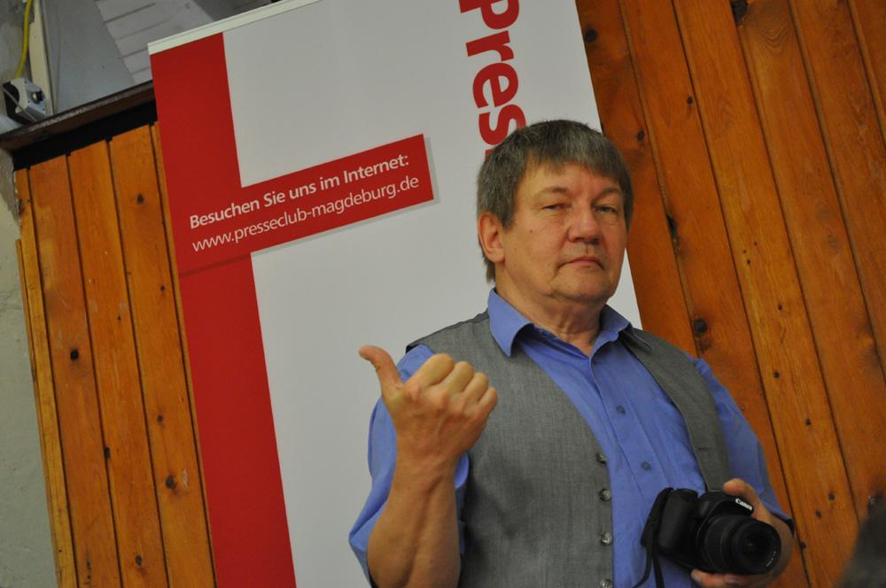 Günter Hartmann, Vorstandsmitglied des Presseclubs Magdeburg