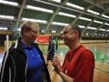 Heiderose Potstata und Mathias Geraldy, Vorstandsmitglieder des Presseclubs Magdeburg