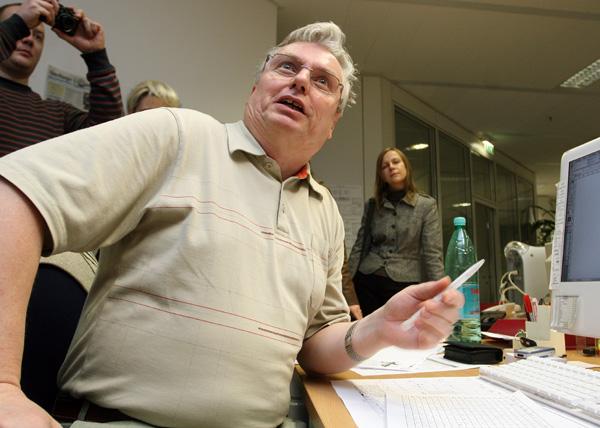 Besuch bei der Redaktion der Volksstimme Magdeburg (29.01.2008) - Foto: Dirk Mahler