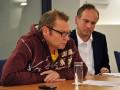 Ralph Völker (stellv. Vorsitzender) und Mathias Geraldy (Schatzmeister) - Jahresmitgliederversammlung des Presseclubs Magdeburg am 08.12.2011 im Francke-Saal des Rathauses