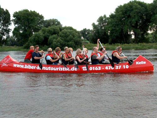 Paddeltour auf der Elbe (06.07.2006)