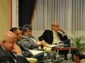 "Podiumsdiskussion ""Brennendes Arabien"" am 14.04.2011 im Maritim Hotel Magdeburg - Peter Wendt, Prof. Abbas Omar, Dr. Wahid Nader und Steffen Honig (v.l.n.r.)"
