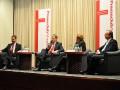 v.l.n.r. Wulf Gallert (DIE LINKE), Jens Bullerjahn (SPD), Dr. Jörg Kürschner (Moderation) und Dr. Reiner Haseloff (CDU) Podiumsdiskussion mit den Spitzenkandidaten zur Landtagswahl 2011 in Sachsen-Anhalt am 08.02.2011 im Maritim Hotel Magdeburg.