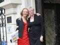 Sommerfest des Presseclubs Magdeburg e.V. und des Deutschen Journalisten-Verbandes e.V. am 07.08.2010 in der Villa Bennewitz  - Sandra Yvonne Stieger und Heiderose Potstada (Presseclub-Vorstand)