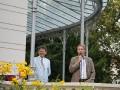 Sommerfest des Presseclubs Magdeburg e.V. und des Deutschen Journalisten-Verbandes e.V. am 07.08.2010 in der Villa Bennewitz   - Norbert Doktor (Vorsitzender des Presseclubs Magdeburg) und Alexander von Maydell (Deutscher Journalisten-Verbandes e.V.)
