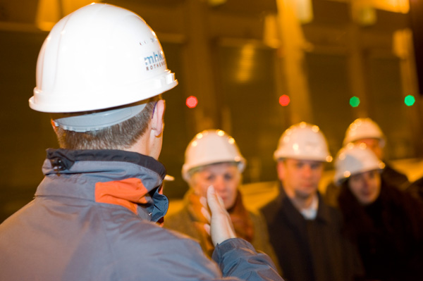 Besichtigung des Müllheizkraftwerks Rothensee (20.11.2008) - Foto: Bastian Ehl