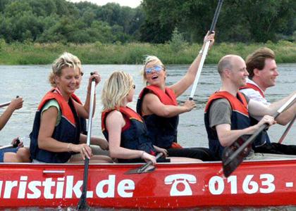 Paddeltour auf der Elbe