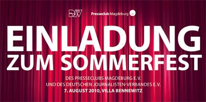 Sommerfest des Presseclubs Magdeburg e. V. und des Deutschen Journalisten-Verbandes e. V.