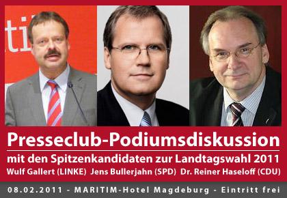 Presseclub-Podiumsdiskussion