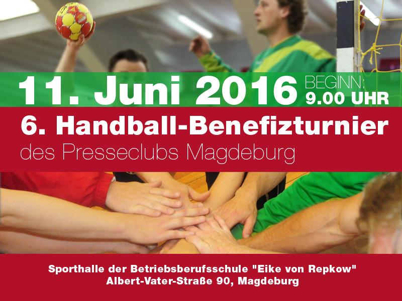 6. Handball-Benefizturnier des Presseclubs Magdeburg am 11.06.2016